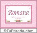 Romana, nombre, significado y origen de nombres