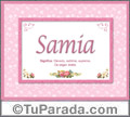 Samia, nombre, significado y origen de nombres