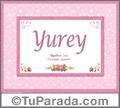 Yurey, nombre, significado y origen de nombres