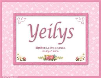 Yeilys, nombre, significado y origen de nombres