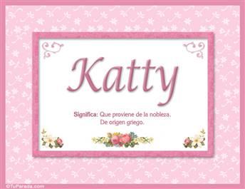 Katty, nombre, significado y origen de nombres