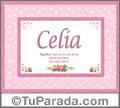 Celia, nombre, significado y origen de nombres