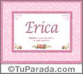 Erica, nombre, significado y origen de nombres