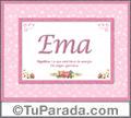 Ema, nombre, significado y origen de nombres