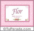 Nombre Tarjeta con imagen de Flor para feliz cumpleaños