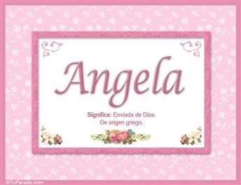 Angela, nombre, significado y origen de nombres