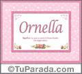 Ornella, nombre, significado y origen de nombres