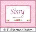 Sissy, nombre, significado y origen de nombres