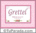 Grettel, nombre, significado y origen de nombres