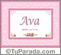 Ava, nombre, significado y origen de nombres