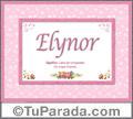 Elynor, nombre, significado y origen de nombres