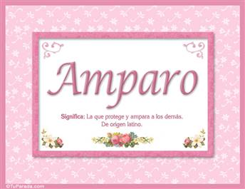Amparo, nombre, significado y origen de nombres