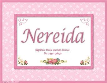 Nereida, nombre, significado y origen de nombres