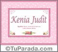 Kenia Judit, nombre, significado y origen de nombres