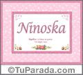 Nombre Tarjeta con imagen de Ninoska para feliz cumpleaños