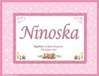 Ninoska, nombre, significado y origen de nombres