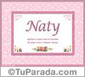 Naty, nombre, significado y origen de nombres