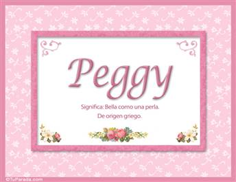Peggy, nombre, significado y origen de nombres