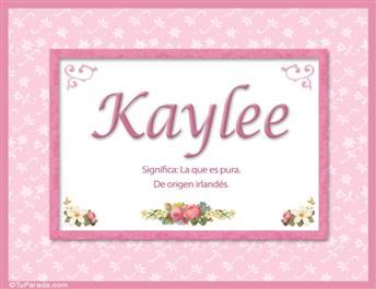 Kaylee, nombre, significado y origen de nombres
