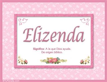 Elizenda, nombre, significado y origen de nombres