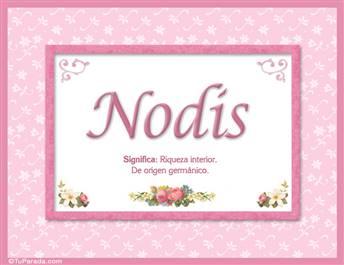 Nodis, nombre, significado y origen de nombres