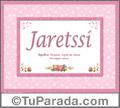 Jaretssi, nombre, significado y origen de nombres