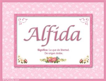 Alfida, nombre, significado y origen de nombres