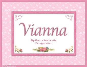 Vianna, nombre, significado y origen de nombres