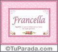 Francella, nombre, significado y origen de nombres