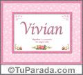 Vivian, nombre, significado y origen de nombres