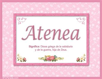 Atenea, nombre, significado y origen de nombres