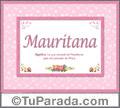 Mauritana, nombre, significado y origen de nombres