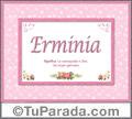 Erminia, nombre, significado y origen de nombres