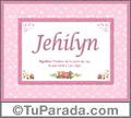 Jehilyn, nombre, significado y origen de nombres