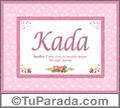 Kada, nombre, significado y origen de nombres