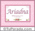 Ariadna, nombre, significado y origen de nombres