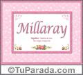 Millaray, nombre, significado y origen de nombres