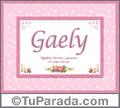 Gaely, nombre, significado y origen de nombres