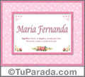 María Fernanda, nombre, significado y origen de nombres