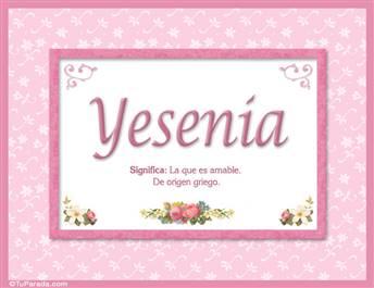 Yesenia, nombre, significado y origen de nombres