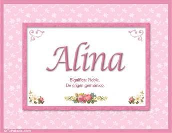 Alina, nombre, significado y origen de nombres