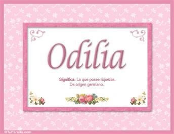 Odilia, nombre, significado y origen de nombres