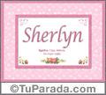 Nombre Tarjeta con imagen de Sherlyn para feliz cumpleaños