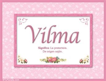 Vilma, nombre, significado y origen de nombres