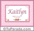 Kaitlyn, nombre, significado y origen de nombres