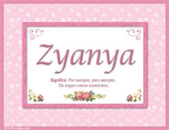 Zyanya, nombre, significado y origen de nombres