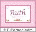 Ruth, nombre, significado y origen de nombres