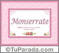 Monserrate, nombre, significado y origen de nombres