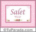 Salet, nombre, significado y origen de nombres