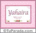 Yahaira, nombre, significado y origen de nombres